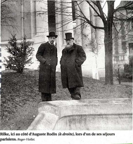 Rilke with Rodin in Paris, 1903
