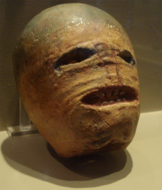 A traditional Irish jack-o-lantern dating back to the early 20th century.