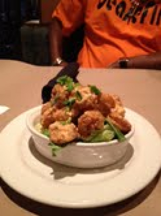 Bang Bang Shrimp. This delectable appetizer is a favorite.