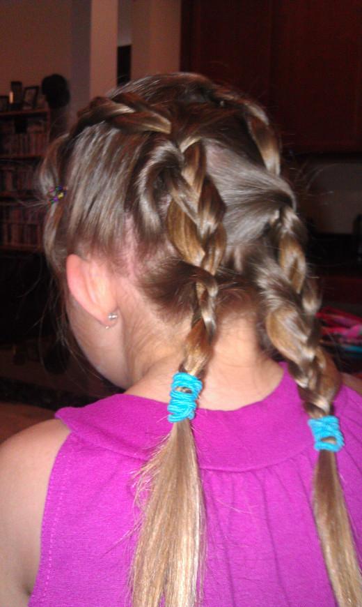 A regular puffy braid from Princess Piggies