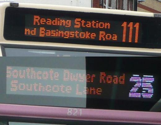 Led Display on Public Transportation