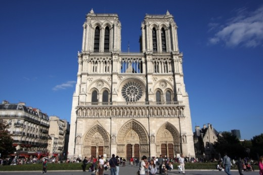 Parts of the Cathedral of Notre Dame in Paris were destroyed and plundered during the French Revolution