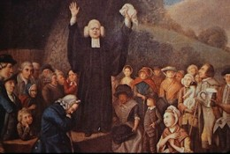 George Whitefield, 18th century Evangelical preacher, was well-known in Britain and America
