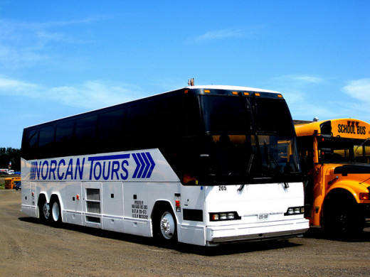Tour buses similar to this are regularly seen bringing tourist to the Blue Ridge Mountains each fall.