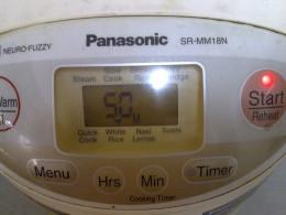 "Press ""White Rice"" for 50min baking"