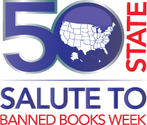 "American Library Association ""Banned Books Week"" logo - in support of the freedom to read."