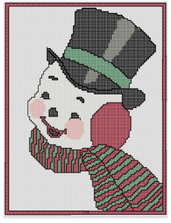 Free Cross Stich Pattern Smiling Snowman