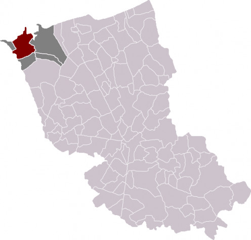 Map location of Gravelines, Dunkirk 'arrondissement', France