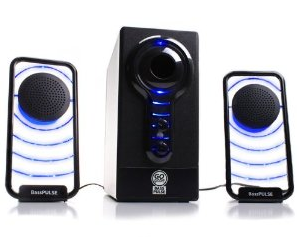 Best Computer Speakers under $50 dollars GOgroove BassPULSE Hi-Fidelity 2.1 Speaker Sound System with Subwoofer for PC