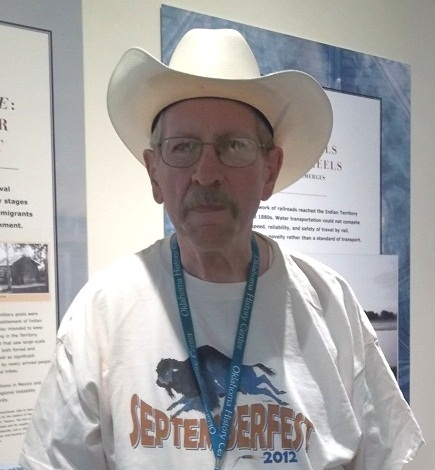 Cowboy Darrell advised us of lots of history while guiding us through Septemberfest at the Oklahoma Historical Museum.  He wears his hat always!