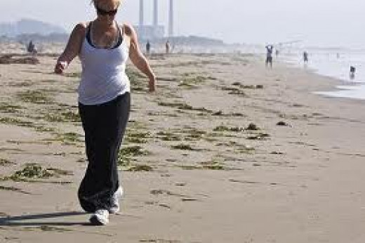 Walking on sand cushions joints