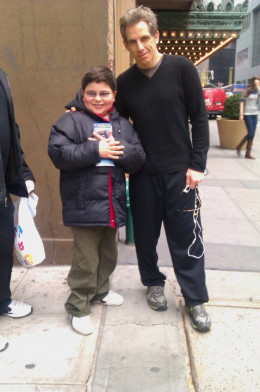 My youngest son and Ben Stiller in NYC!