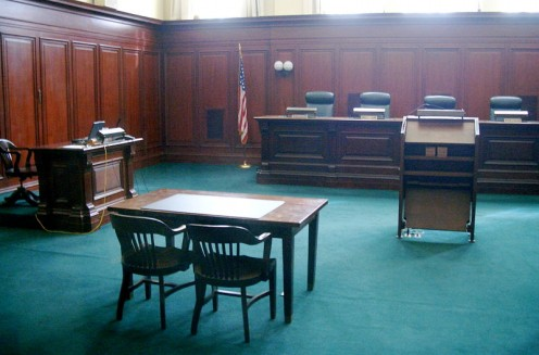 An American court room.