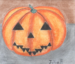 Drawing A Jack-o'-Lantern For Halloween