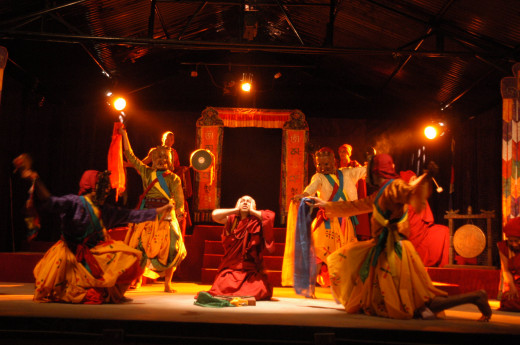 Fire in the Monastery written by Abhi Subedi,directed by Sunil Pokharel,and presented by Aarohan-Gurukul