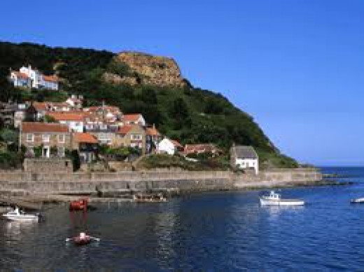 Runswick, the fishing village with the white cottage at the end where Alf Wight (James Herriot) stayed on honeymoon