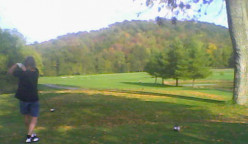 Chartreuse Balls and Fairways Full of Leaves