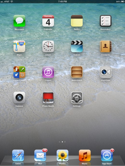 Position the iPad in the orientation you want to lock it in.
