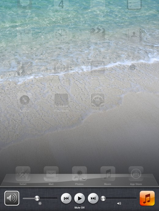Locate the audio icon on the left side of the next screen in the tray.