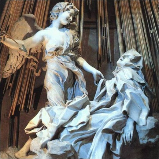 Ecstasy of Saint Theresa by Gian Lorenzo Bernini, Cornaro Chapel, Santa Maria della Vittoria, Rome