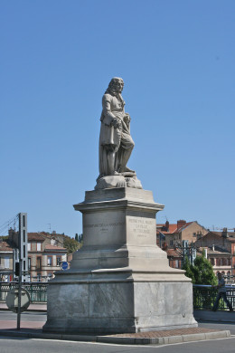 Statue of Pierre Paul Riquet in Toulouse, in the South of France