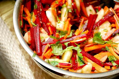 Beet . Carrot . Apple Salad