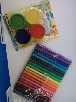 Dollar priced discount items can make face painting a very inexpensive activity for any kids' birthday party!