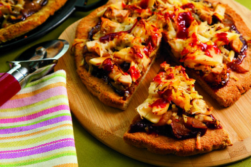 BBQ Chicken Apple Pizza, good to the last bite!