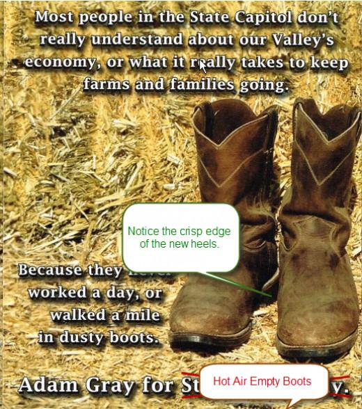 Adam Gray- no resume, no accomplishments, vague experience = empty boots.