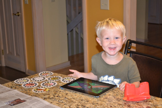 Son (who did not drop it!) was pleased that the iPad screen was repaired!