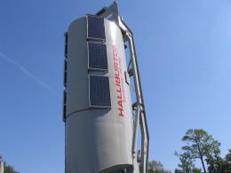 Solar powered self erecting Sandcastle storage bin