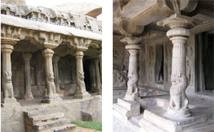 An early Dravidian Column from Mamallapuram