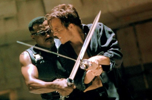 Wesley Snipes and Stephen Dorff in Blade (1998)