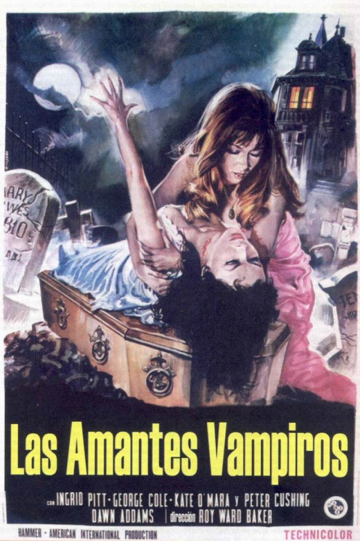 The Vampire Lovers (1970) Spanish poster