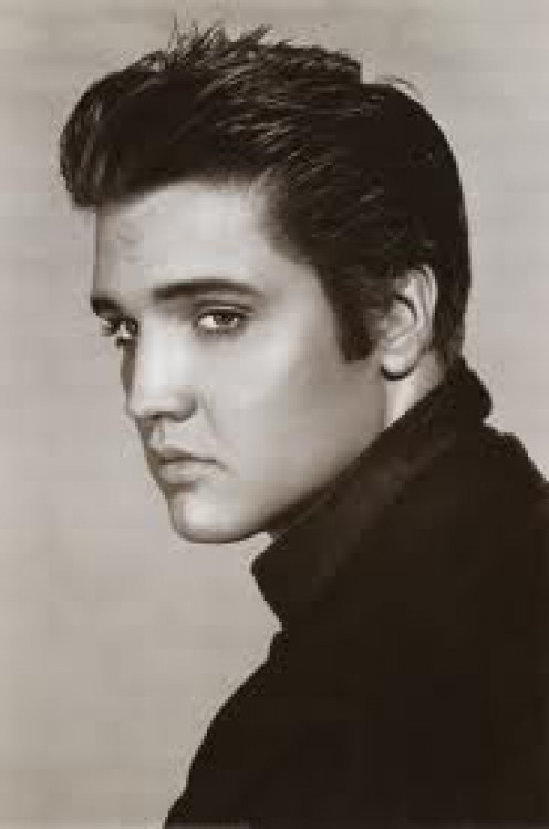 Elvis Presley is known as the king of rock and roll. He has had many hits including: Jail House Rock and Blue Suede Shoes.