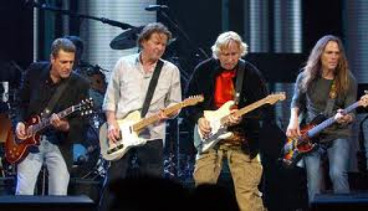The Eagles Were one of the best rock bands of the 1970's and they had many hits such as Hotel California.