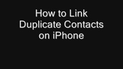 How to Link Duplicate Contacts on iPhone