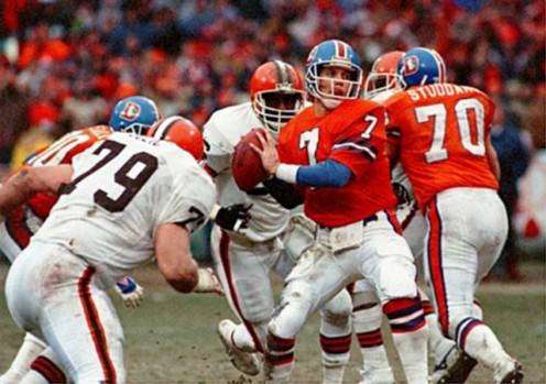 Denver Broncos quarterback John Elway (1986 AFC Championship Game)