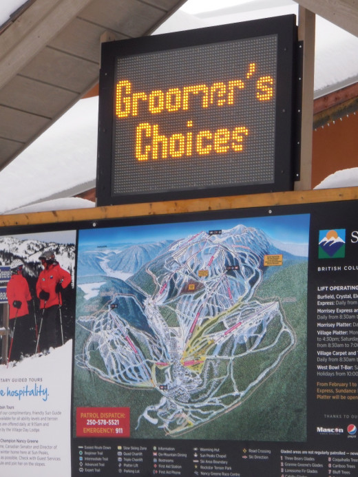Enjoy excellent skiing and snowboarding on three groomed mountains.