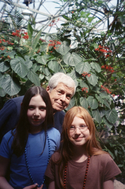 Taking the girls to a Butterfly Farm in Massachusetts in 2007