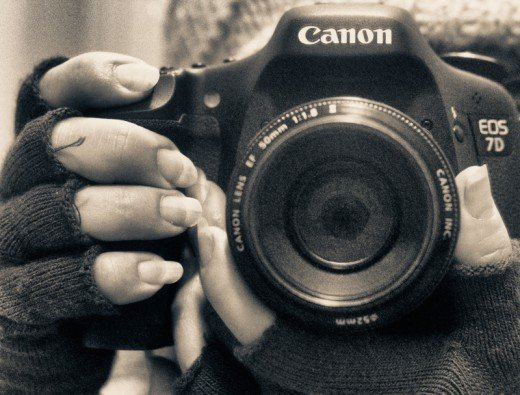 Self portrait - shooting with my Canon 7D