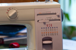 This electronic sewing machine comes with additional stitches that are not available in the basic model.