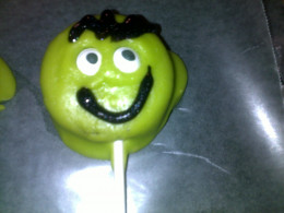 finished cookie pop