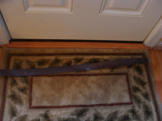 Fig 3.  A Door Bottom with Self Adhesive Cut to Length