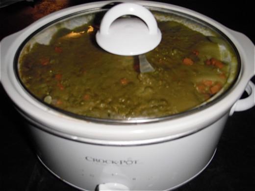 Crock Pot Soup's done!