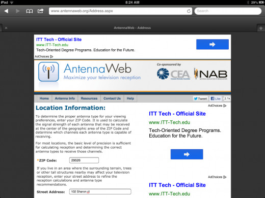Antennaweb Home page