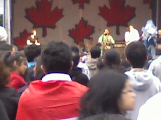 Canada Day celebration in the Waterfront area of Vancouver
