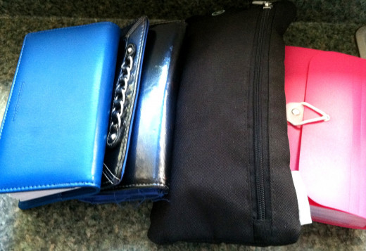 My four mini-purses.