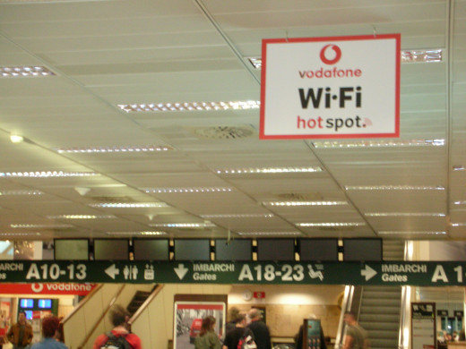 Wi-Fi Hotspot at the airport