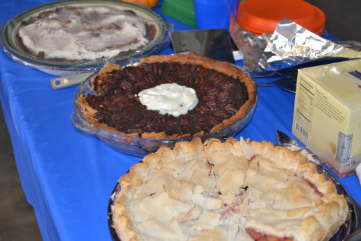 Pies in the dessert buffet